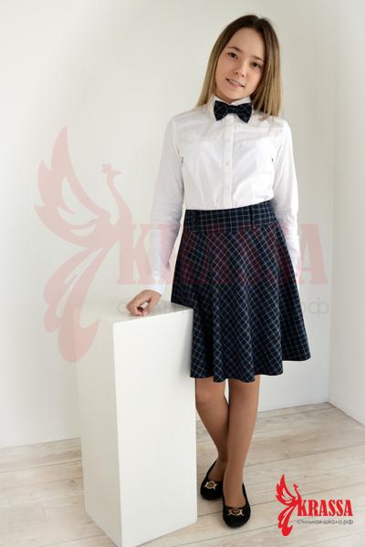 стильная школьная юбка: